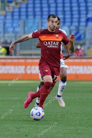 Henrikh Mkhitaryan of AS Roma seen in action