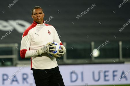 Nelson Dida of AC Milan during the Serie A football match between Juventus FC and AC Milan. Sporting stadiums around Italy remain under strict restrictions due to the Coronavirus Pandemic as Government social distancing laws prohibit fans inside venues resulting in games being played behind closed doors. Milan won 0-3 over Juventus
