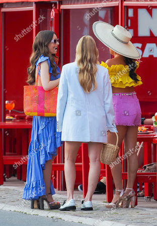 Lily Collins, Camille Razat and Ashley Park
