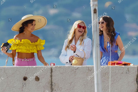 Stock Photo of Lily Collins, Camille Razat and Ashley Park