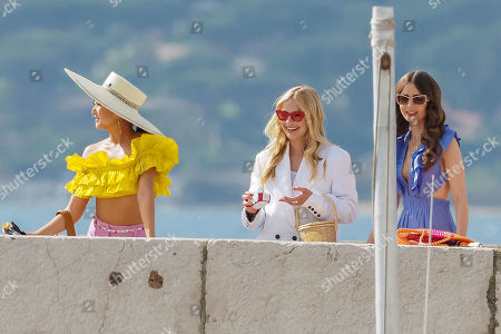 Editorial photo of 'Emily in Paris' on set filming, Series 2, Saint-Tropez, France - 09 May 2021