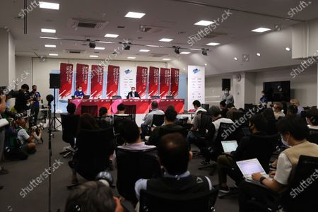 Lord Sebastian Coe World Athletics President - Athletics : READY STEADY TOKYO - Athletics Press conference at National Stadium in Tokyo, Japan.
