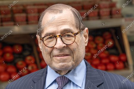 Stock Photo of Congressmember Jerry Nadler attends Scott Stringer's campaign stop on the Upper West Side in front of Fairway Market on 74 and Broadway in New York City.  Voters will go to the polls for the Primary on June 22.