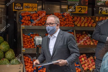 Editorial image of Scott Stringer Campaigns in New York, US - 09 May 2021