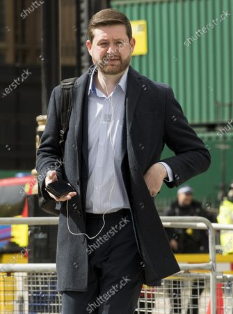 Stock Image of Shadow Secretary of State for Transport JIM MCMAHON is seen in Westminster. Labour Party Leader Sir Keir Starmer is expected to reshuffle his Shadow Cabinet after a series of disappointing results in elections last week.