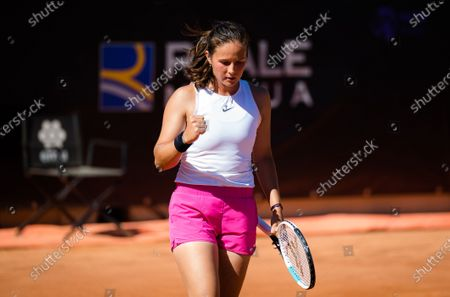 Stock Image of Daria Kasatkina of Russia in action during the first round of the 2021 Internazionali BNL d'Italia WTA 1000 tournament