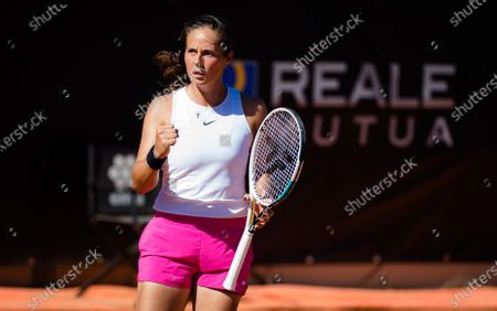 Stock Picture of Daria Kasatkina of Russia in action during the first round of the 2021 Internazionali BNL d'Italia WTA 1000 tournament