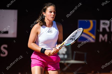 Stock Photo of Daria Kasatkina of Russia in action during the first round of the 2021 Internazionali BNL d'Italia WTA 1000 tournament