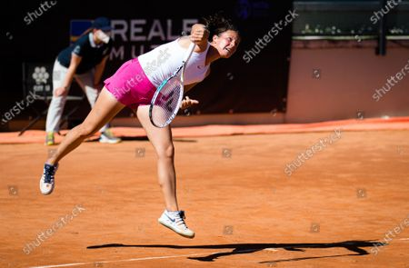 Daria Kasatkina of Russia in action during the first round of the 2021 Internazionali BNL d'Italia WTA 1000 tournament