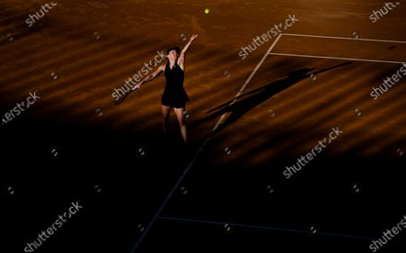Stock Picture of Simona Halep of Romania in action during the second round of the 2021 Internazionali BNL d'Italia WTA 1000 tournament
