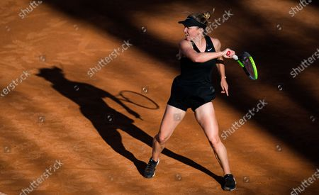 Stock Photo of Simona Halep of Romania in action during the second round of the 2021 Internazionali BNL d'Italia WTA 1000 tournament