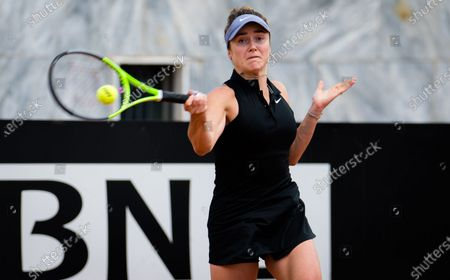 Elina Svitolina of the Ukraine in action during her quarter-final at the 2021 Internazionali BNL d'Italia WTA 1000 tournament