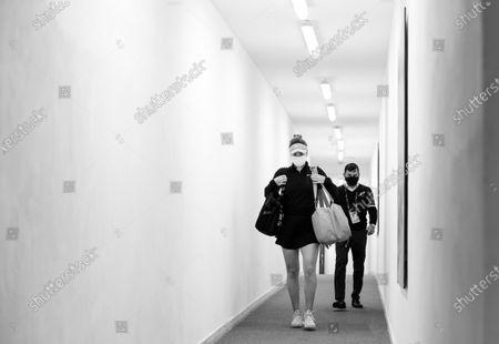 Elina Svitolina of the Ukraine before her quarter-final at the 2021 Internazionali BNL d'Italia WTA 1000 tournament