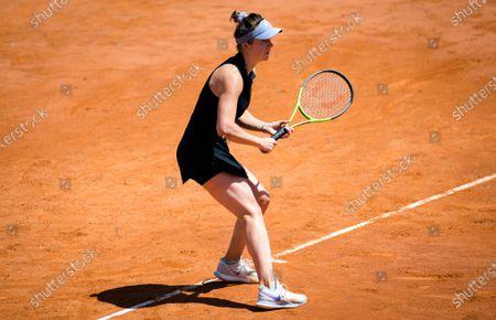 Elina Svitolina of the Ukraine in action during her semi-final at the 2021 Internazionali BNL d'Italia WTA 1000 tournament
