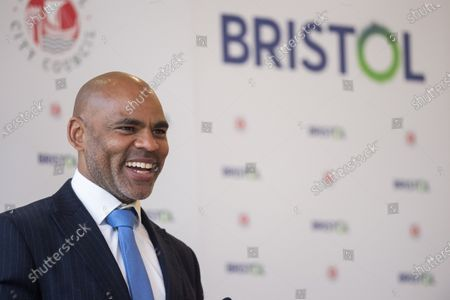 ; Bristol, UK. Bristol Mayor MARVIN REES gives a speech at his inauguration in City Hall after he was re-elected as the Mayor of Bristol for a second term.