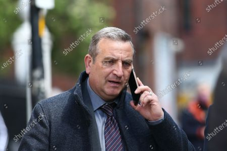Stock Picture of Michael Nardone, who plays D.I Neil McKinven in the BBC series Traces, filming on location in Stockport on Monday morning.