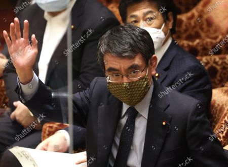 Editorial image of Japanese Prime Minister Yoshihide Suga attends Lower Hoise's budget committee session, Tokyo, Japan - 10 May 2021