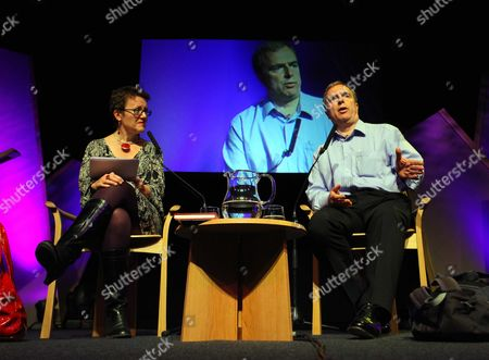 Stock Image of Rosie Goldsmith and Peter Hitchens