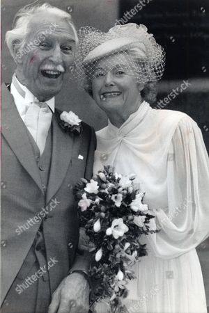 Stock Image of June Spencer (peggy Archer) And Arnold Peters (jack Wooley) The Archers Wedding