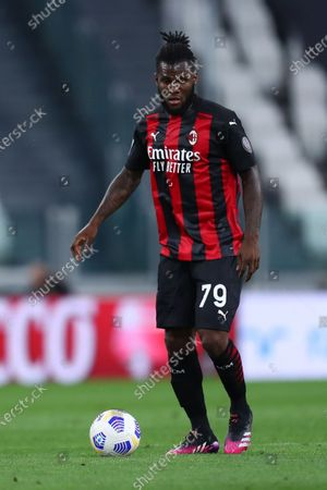 Franck Kessie of Ac Milan in action during the Serie A match between Juventus Fc and Ac Milan.