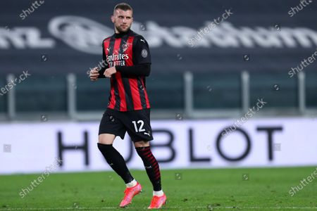 Ante Rebic of Ac Milan looks on during the Serie A match between Juventus Fc and Ac Milan.