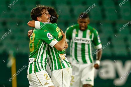 Stock Picture of Rodrigo Sanchez Rodri and Diego Lainez of Real Betis