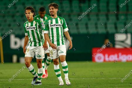 Rodrigo Sanchez Rodri and Diego Lainez of Real Betis