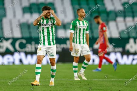 Stock Photo of Aitor Ruibal and Sergio Canales of Real Betis