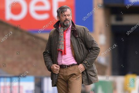 Phil Brown of Southend United  in action during Sky Bet League Two match between Southend United and Newport County at Roots Hall in Southend - 8th May 2021