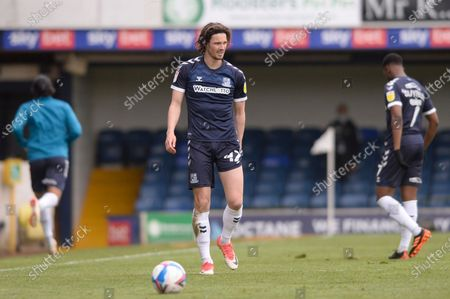 Stock Photo of Sam Hart of Southend United suffers an injury during Sky Bet League Two match between Southend United and Newport County at Roots Hall in Southend - 8th May 2021