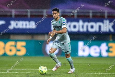 Marc Bartra of Real Betis Balompie in action during the La Liga match between SD Eibar and Real Betis at Ipurua stadium on May 13, 2021 in Eibar, Spain.