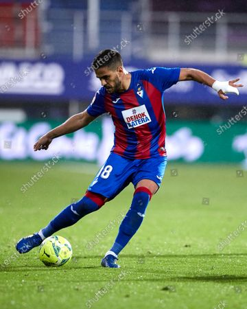 Stock Image of Jose Luis Garcia del Pozo, ÒRecioÓ in action during the La Liga match between SD Eibar and Real Betis at Ipurua stadium on May 13, 2021 in Eibar, Spain.