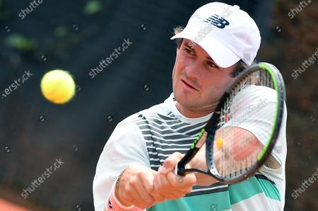 Stock Picture of Tommy Paul of the USA in action against Roberto Bautista Agut of Spain during their men's singles first round match at the Italian Open tennis tournament in Rome, Italy, 11 May 2021.