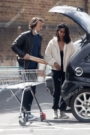 Editorial photo of Exclusive - Paul Nicholls and Hemma Kathrecha out and about, London, UK - 10 May 2021