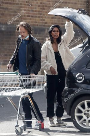 Editorial image of Exclusive - Paul Nicholls and Hemma Kathrecha out and about, London, UK - 10 May 2021