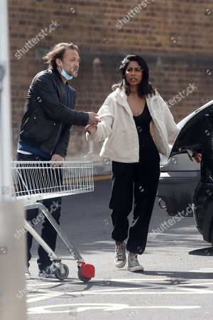 Editorial picture of Exclusive - Paul Nicholls and Hemma Kathrecha out and about, London, UK - 10 May 2021