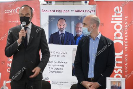 Editorial image of Edouard Philippe and Genevieve Darrieussecq electoral campaign, Angouleme, France - 10 May 2021