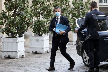 Gerald Darmanin, Minister of the Interior arrives in Matignon
