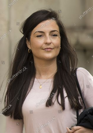 Labour Party staff member Laura Murray arrives at The Royal Courts of Justice in London where she is currently being sued by Television presenter RACHEL RILEY for libel over a social media post.