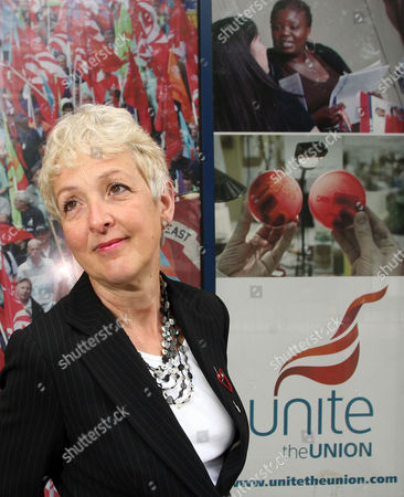 Editorial photo of Gail Cartmail, Assistant General Secretary of Unite trade union, London, Britain - 26 May 2010