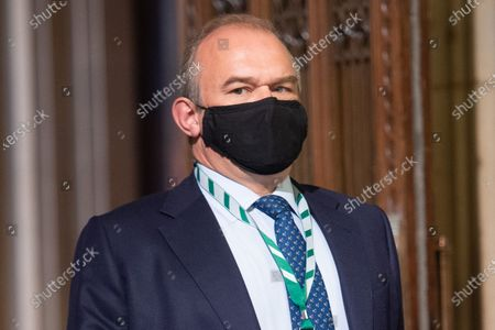 Sir Ed Davey walks through the Member's Lobby in the House of Commons for the State Opening of Parliament at Houses Of Parliament, London, England, UK on Tuesday 11 May, 2021.
