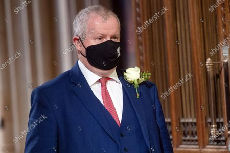 SNP Leader in Westminster Ian Blackford walks through the Member's Lobby in the House of Commons for the State Opening of Parliament at Houses Of Parliament, London, England, UK on Tuesday 11 May, 2021.