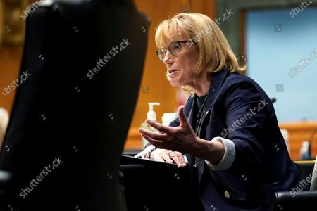 Sen. Maggie Hassan, D-N.H., speaks during a Senate Health, Education, Labor, and Pensions hearing to examine an update from Federal officials on efforts to combat COVID-19, on Capitol Hill in Washington