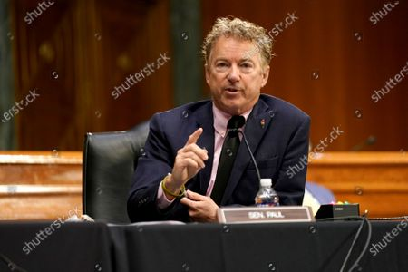 United States Senator Rand Paul (Republican of Kentucky) questions Dr. Anthony Fauci, director of the National Institute of Allergy and Infectious Diseases, about gain of function research during a Senate Health, Education, Labor and Pensions Committee hearing to discuss the on-going federal response to Covid-19 at the U.S. Capitol in Washington, D.C.