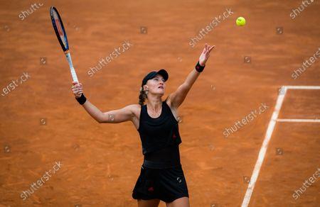 Kristina Mladenovic of France in action