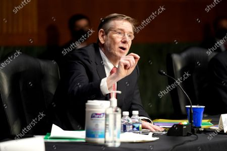 Department of Health and Human Services Chief Science Officer for Covid Response David Kessler answers a question during a Senate Health, Education, Labor and Pensions Committee hearing to discuss the on-going federal response to Covid-19 at the US Capitol in Washington, DC, USA, 11 May 2021.