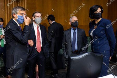 Editorial picture of Fauci, Walensky testify before Senate on COVID-19 update, Washington, USA - 11 May 2021
