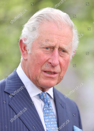 Stock Image of Prince Charles, Prince Charles during a visit to St Bartholomew's Hospital, where he viewed its historic Grade I listed buildings and met with nursing staff ahead of International Nurses Day at St Bartholomew's Hospital on May 11, 2021 in London, England.