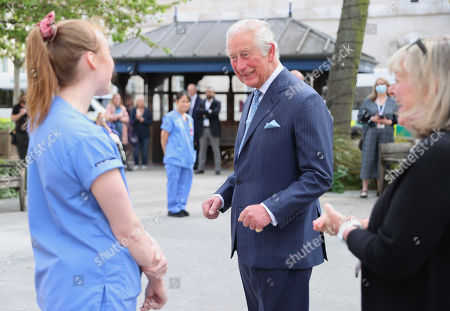 Editorial picture of Prince Charles visits St Bartholomew's Hospital, London, UK - 11 May 2021
