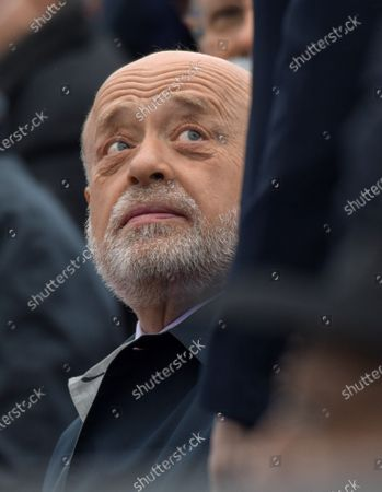 Military parade on Red Square, dedicated to the 76th anniversary of Victory in the Great Patriotic War. Director of the Russian Institute for Strategic Studies Mikhail Fradkov during the parade.May 09, 2021.